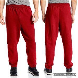 🍍Hanes Red elastic bottom drawstring sweatpants M